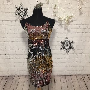 REVAMPED Sequined Mini Dress